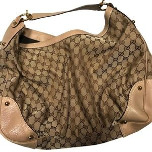 Gucci Large Monogram Jockey Hobo Bag